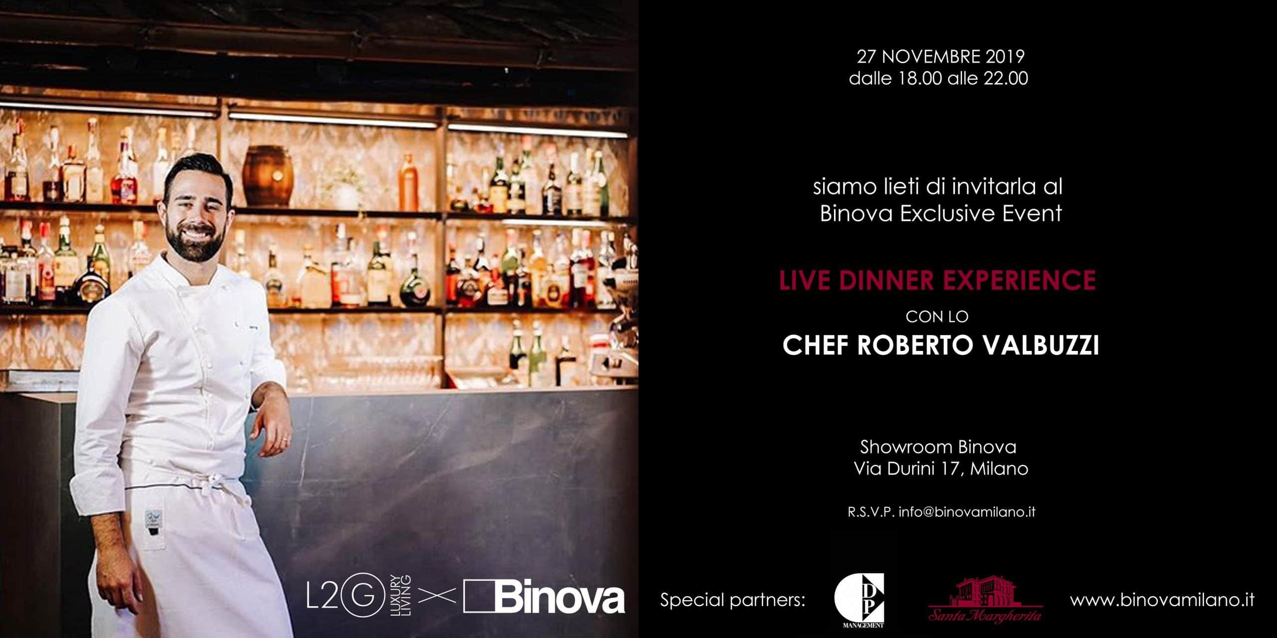 binova live dinner experience roberto valbuzzi